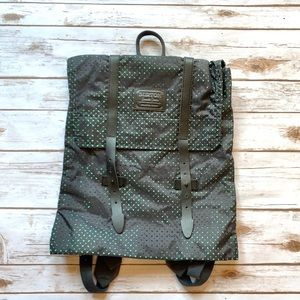 Burton Backpack Flap Close Blue Green Perforated